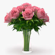 bukiet róż 3d model