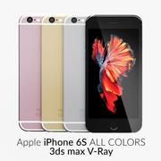 iPhone 6S Todos los colores V-Ray modelo 3d