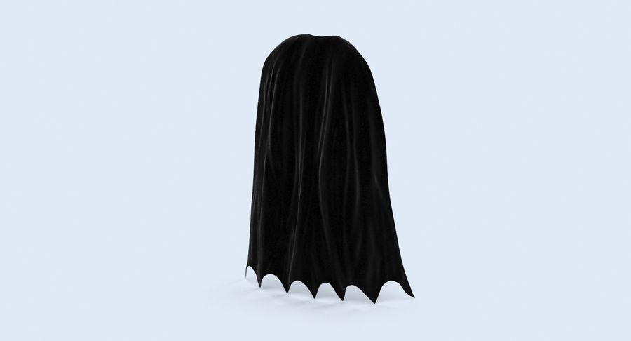 Batman Cape permanent royalty-free 3d model - Preview no. 4