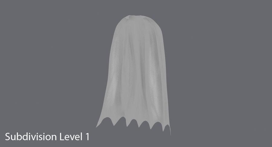Batman Cape Standing royalty-free 3d model - Preview no. 10