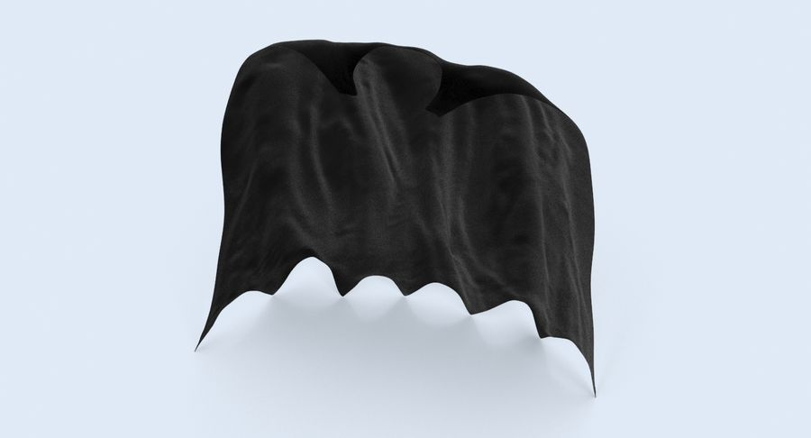 Batman Cape permanent royalty-free 3d model - Preview no. 6