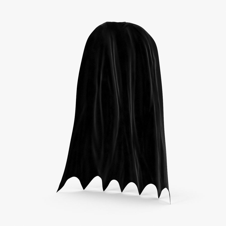 Batman Cape permanent royalty-free 3d model - Preview no. 1