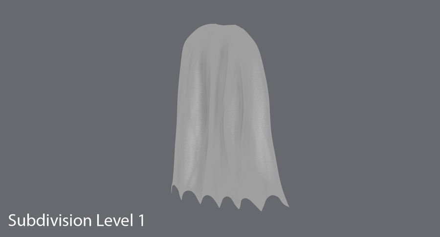 Batman Cape permanent royalty-free 3d model - Preview no. 12