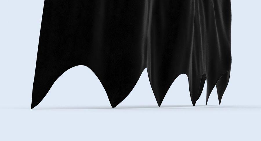 Batman Cape Standing royalty-free 3d model - Preview no. 8