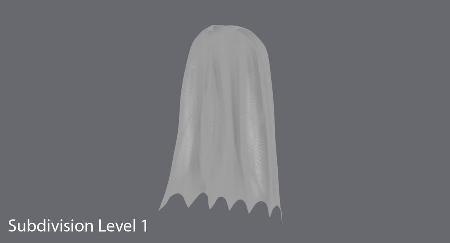 Batman Cape permanent royalty-free 3d model - Preview no. 10