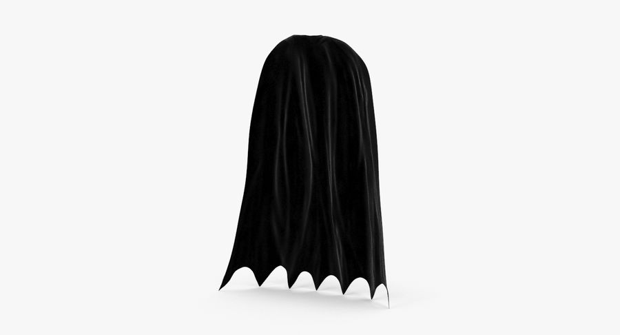 Batman Cape permanent royalty-free 3d model - Preview no. 2