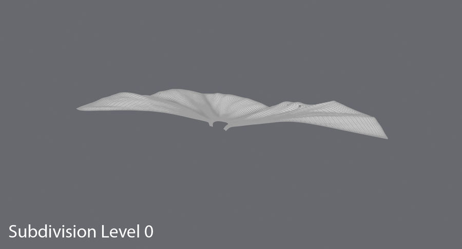 Batman Cape Flying royalty-free 3d model - Preview no. 8
