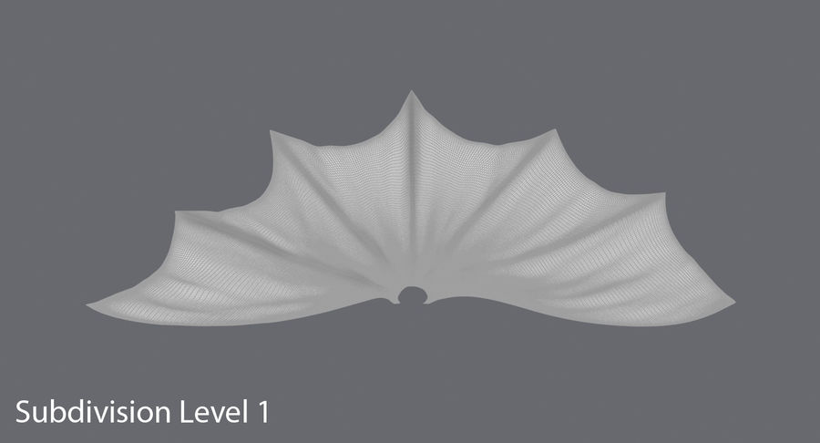 Batman Cape Flying royalty-free 3d model - Preview no. 11