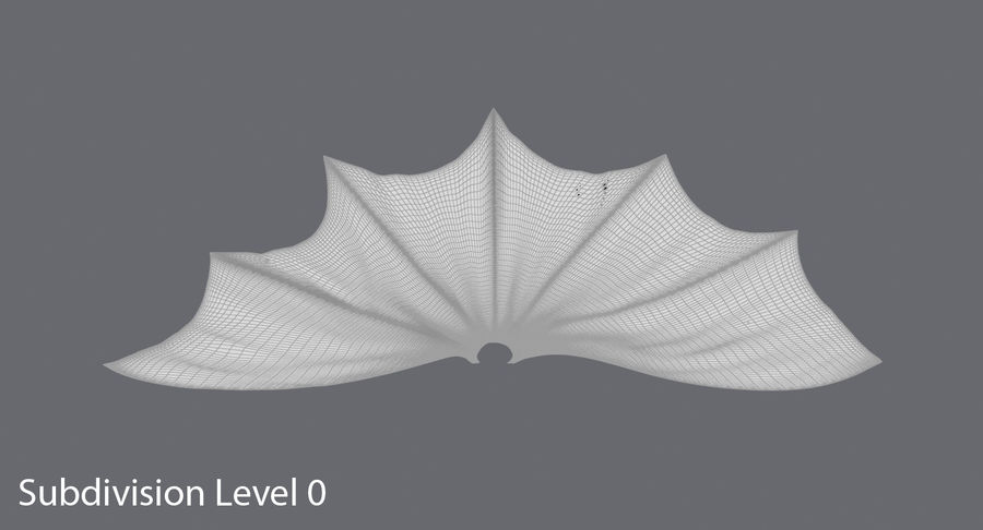 Batman Cape Flying royalty-free 3d model - Preview no. 10