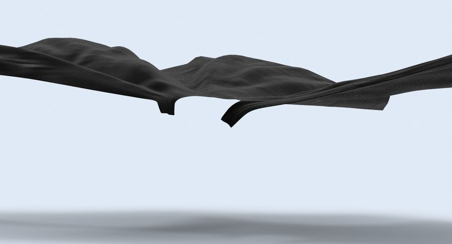 Batman Cape Flying royalty-free 3d model - Preview no. 6