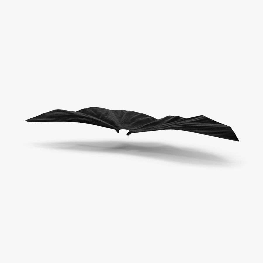 Batman Cape Flying royalty-free 3d model - Preview no. 1