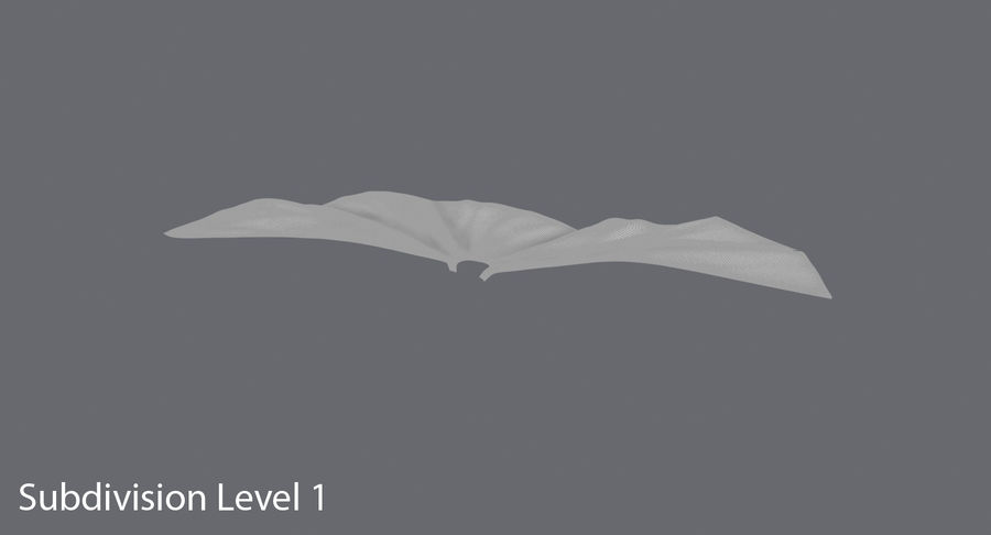 Batman Cape Flying royalty-free 3d model - Preview no. 9