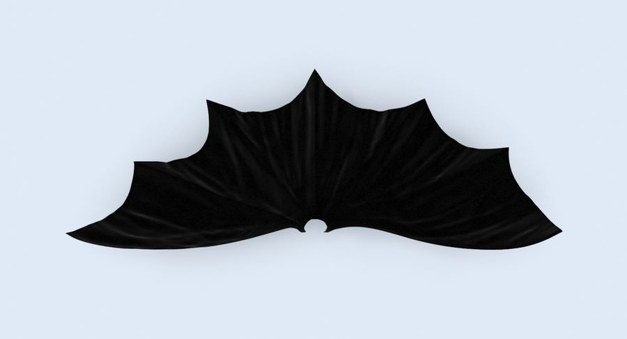 Batman Cape Flying royalty-free 3d model - Preview no. 4