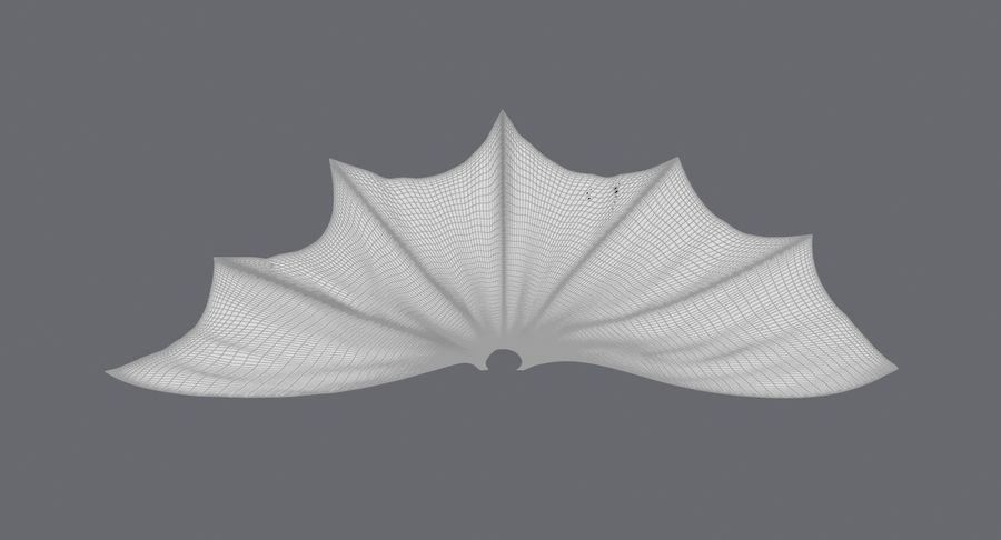 Batman Cape Flying royalty-free 3d model - Preview no. 13