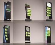 placas de sinais 3d model