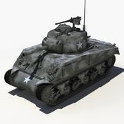 Sherman Tank - Laag poly 3d model