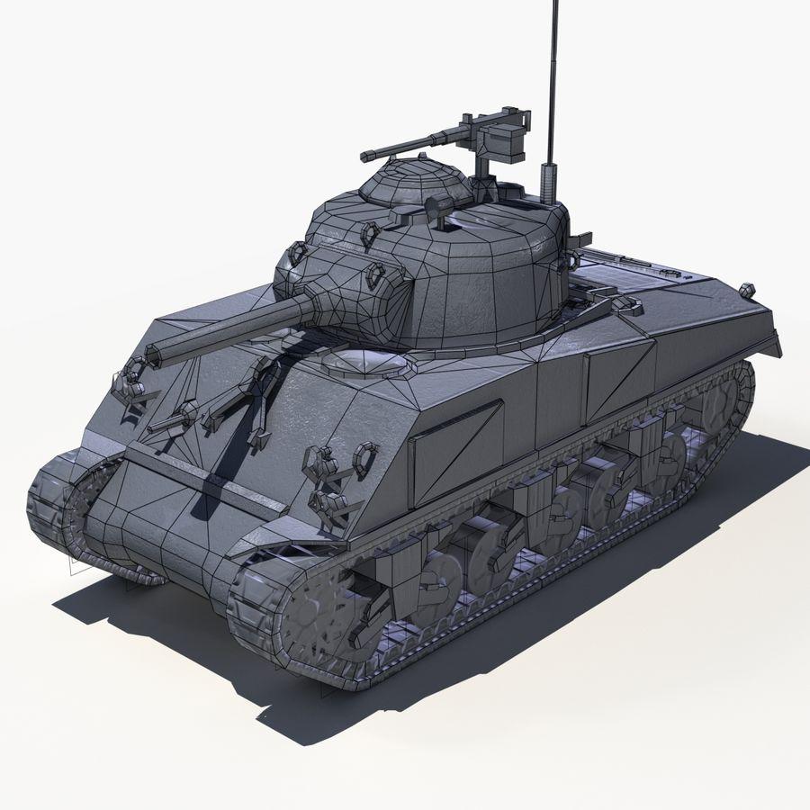 Sherman Tank - Basse Poly royalty-free 3d model - Preview no. 3