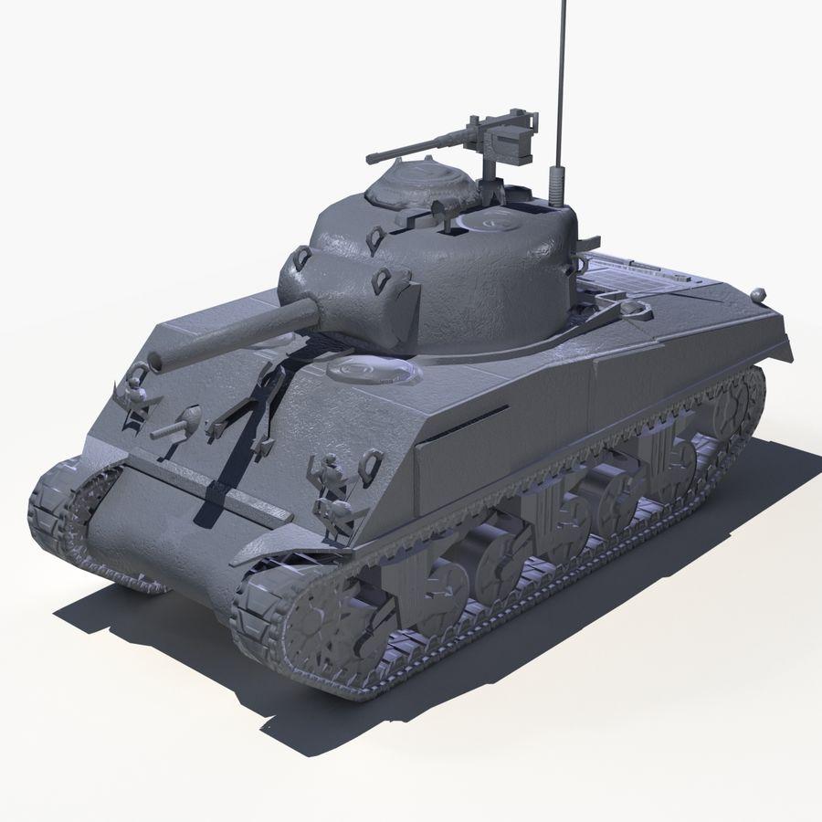 Sherman Tank - Basse Poly royalty-free 3d model - Preview no. 2