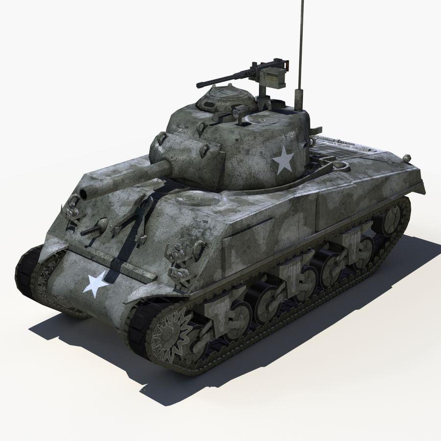 Sherman Tank - Basse Poly royalty-free 3d model - Preview no. 1