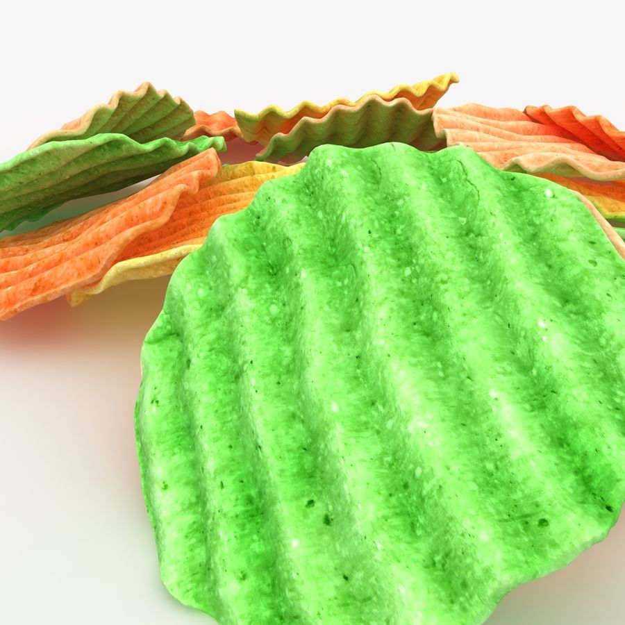 Veggie Chip royalty-free 3d model - Preview no. 9