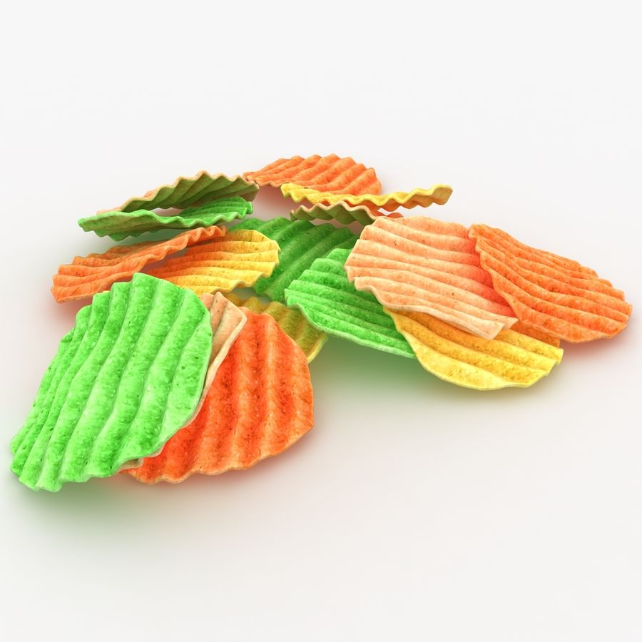 Veggie Chip royalty-free 3d model - Preview no. 2
