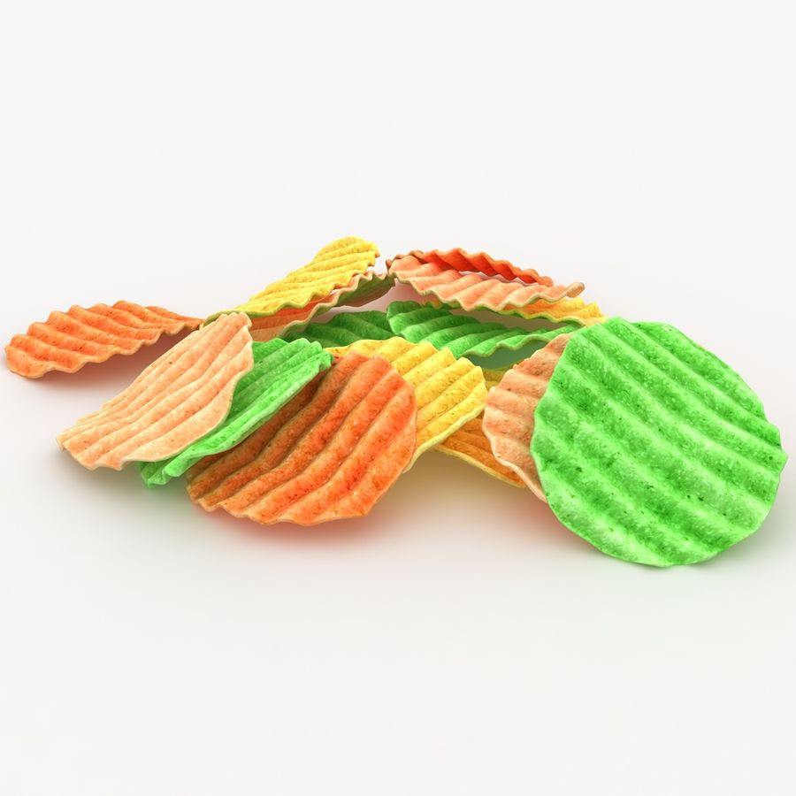 Veggie Chip royalty-free 3d model - Preview no. 6
