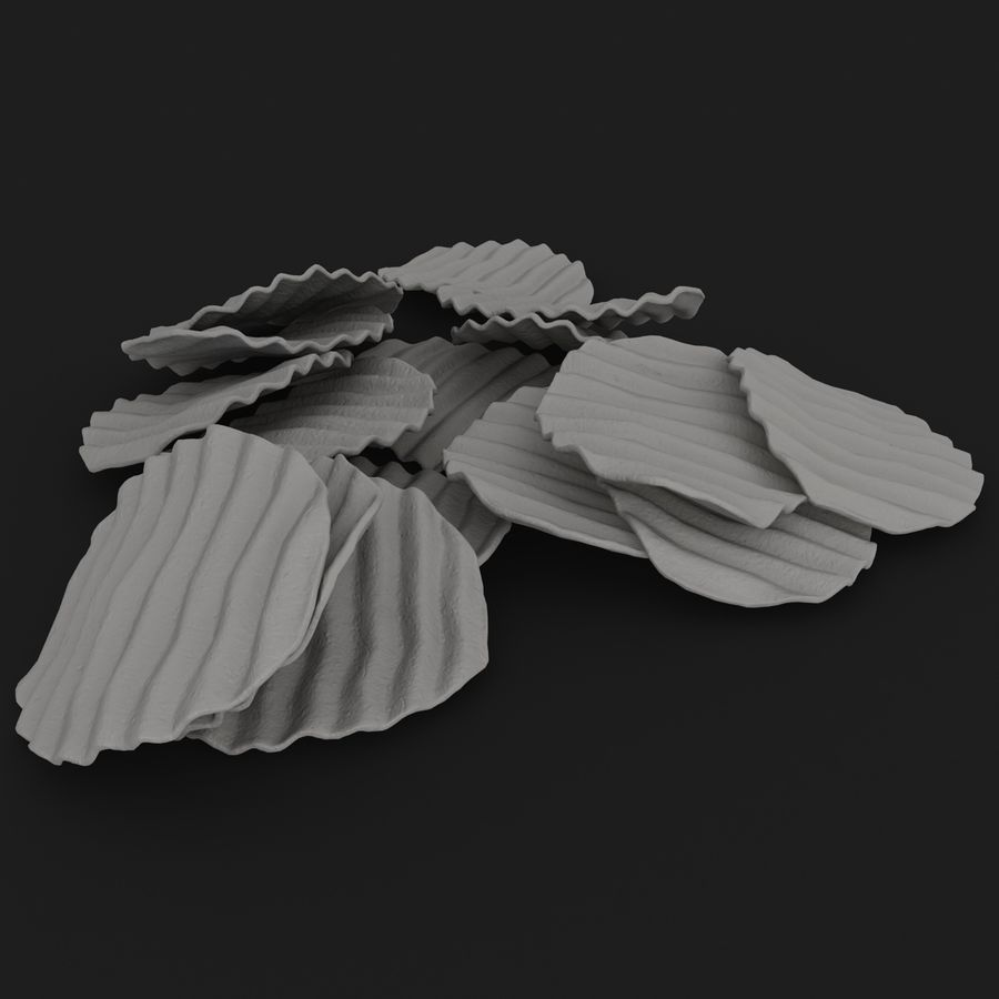 Veggie Chip royalty-free 3d model - Preview no. 16