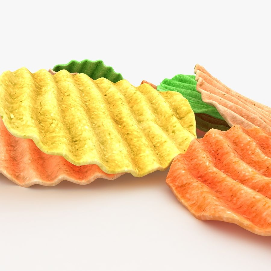 Veggie Chip royalty-free 3d model - Preview no. 3