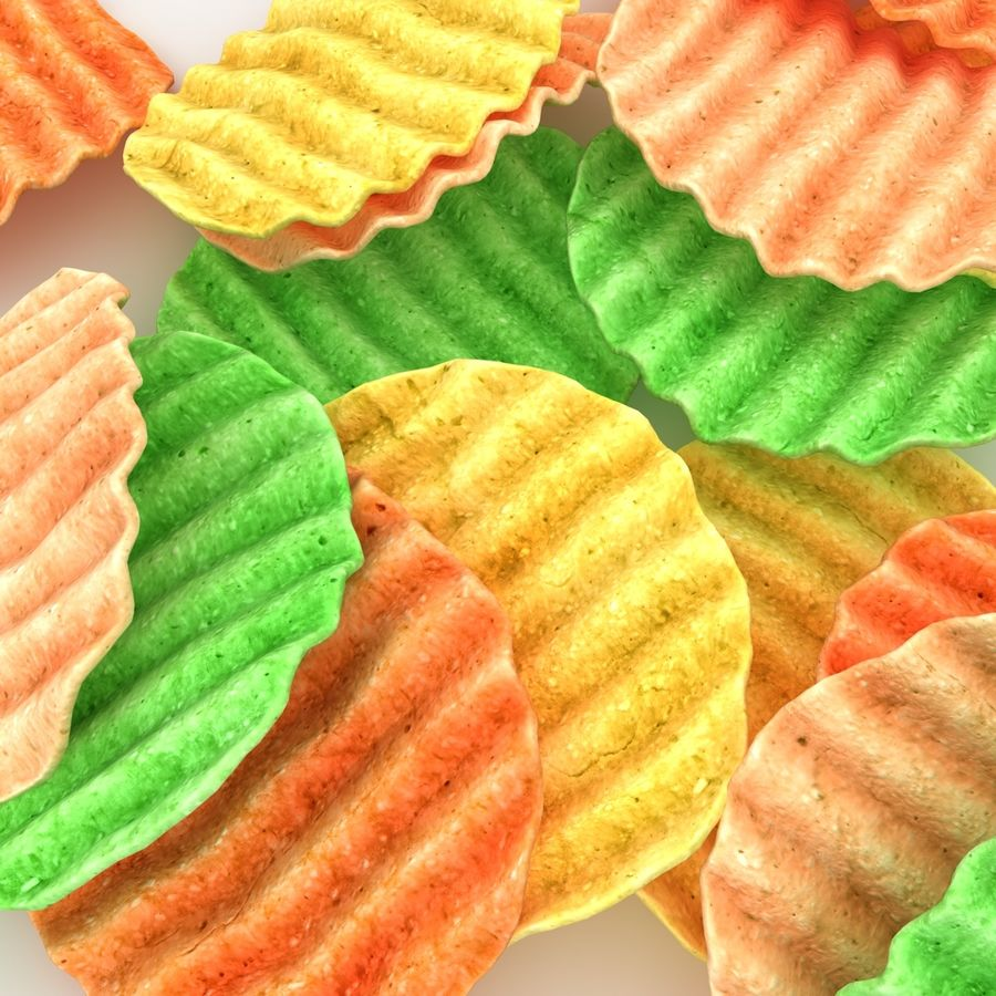 Veggie Chip royalty-free 3d model - Preview no. 5