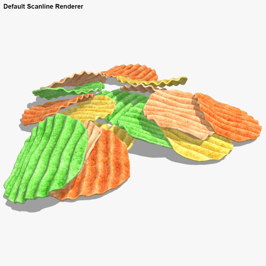 Veggie Chip royalty-free 3d model - Preview no. 17