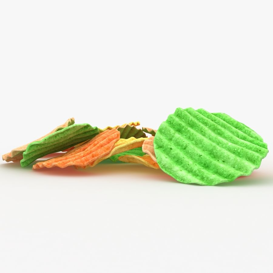 Veggie Chip royalty-free 3d model - Preview no. 8
