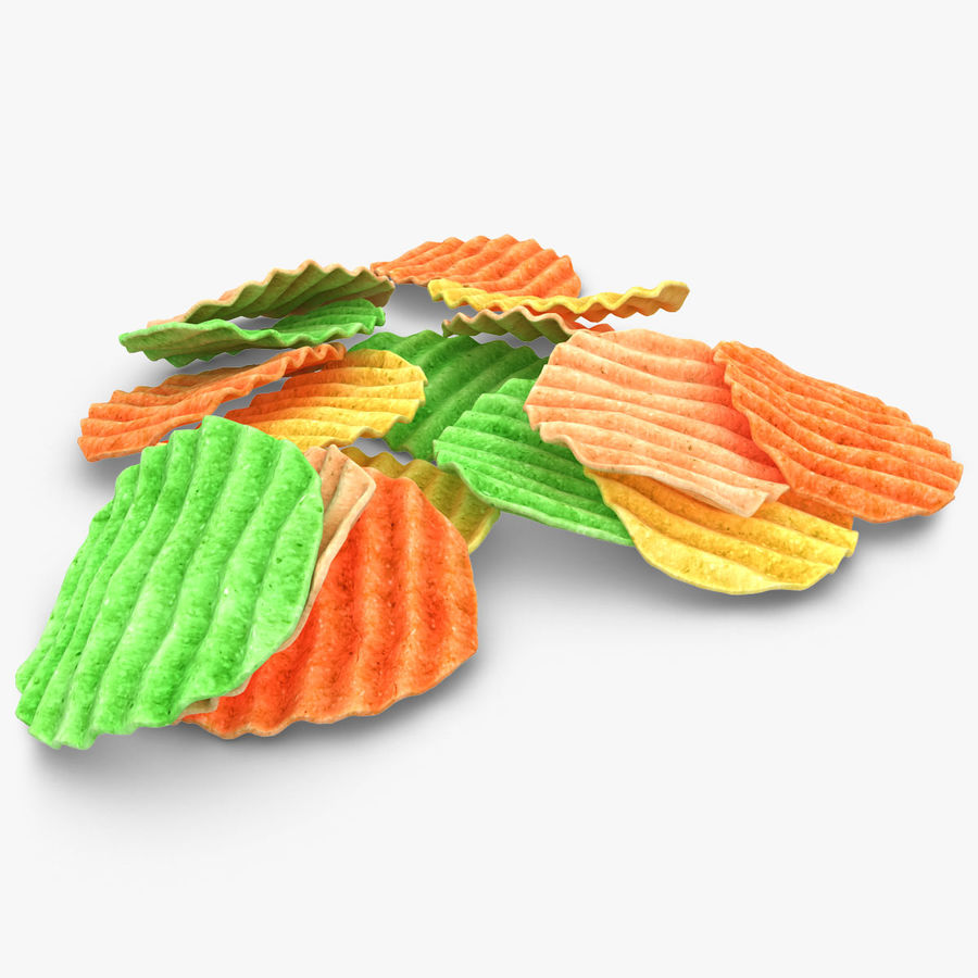Veggie Chip royalty-free 3d model - Preview no. 1