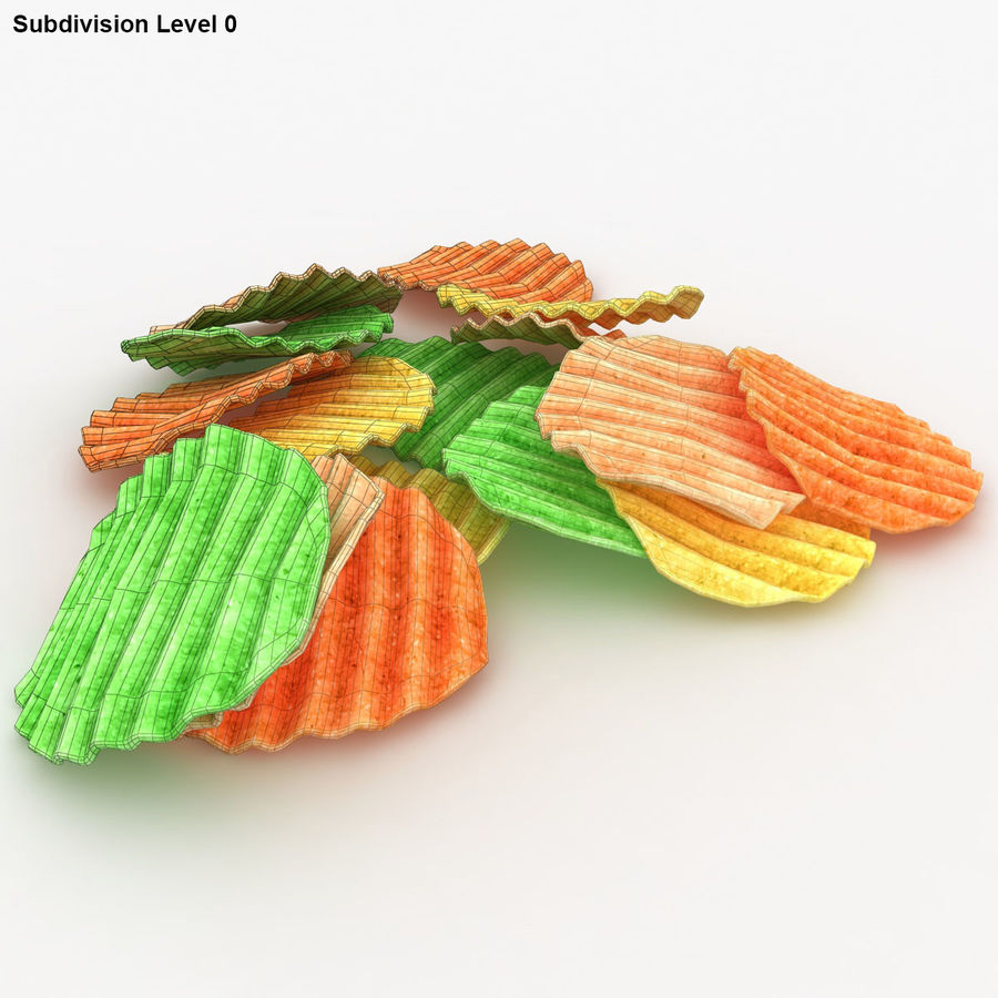 Veggie Chip royalty-free 3d model - Preview no. 13