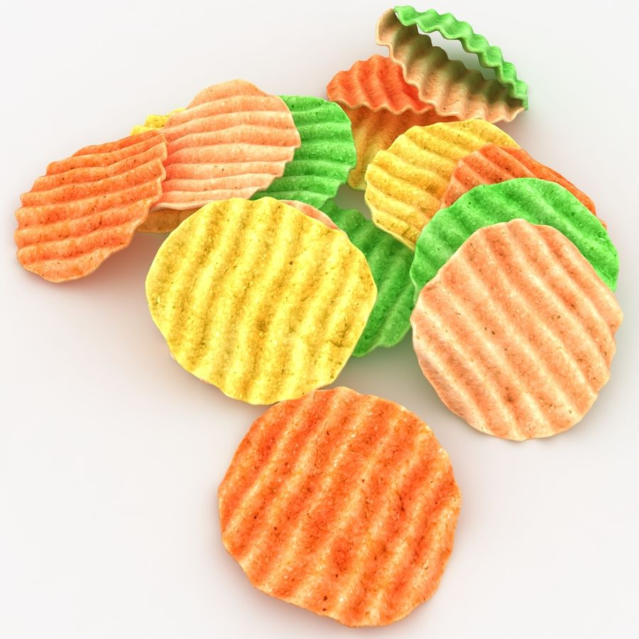 Veggie Chip royalty-free 3d model - Preview no. 4