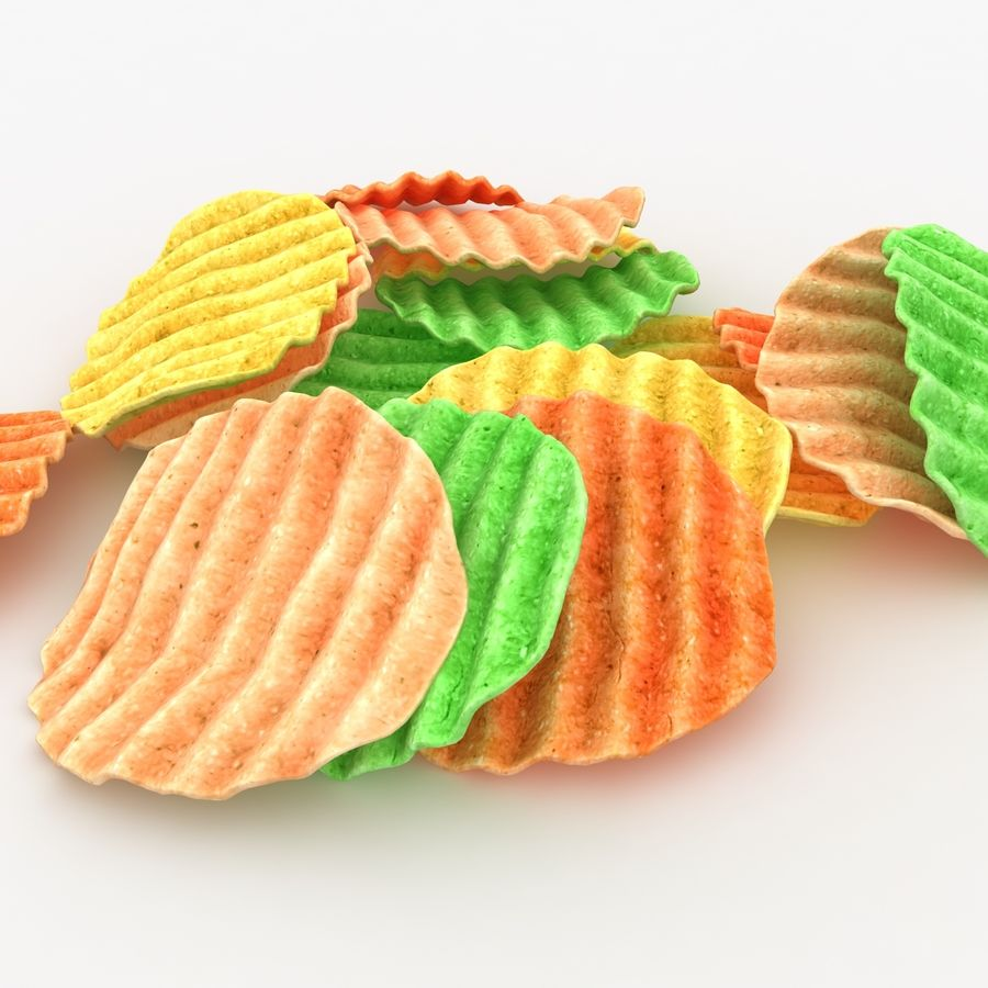 Veggie Chip royalty-free 3d model - Preview no. 7