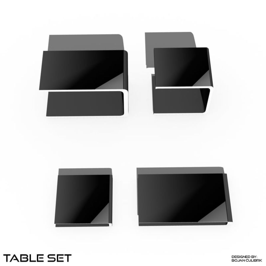 Cube Table Set Collection 2 royalty-free 3d model - Preview no. 2