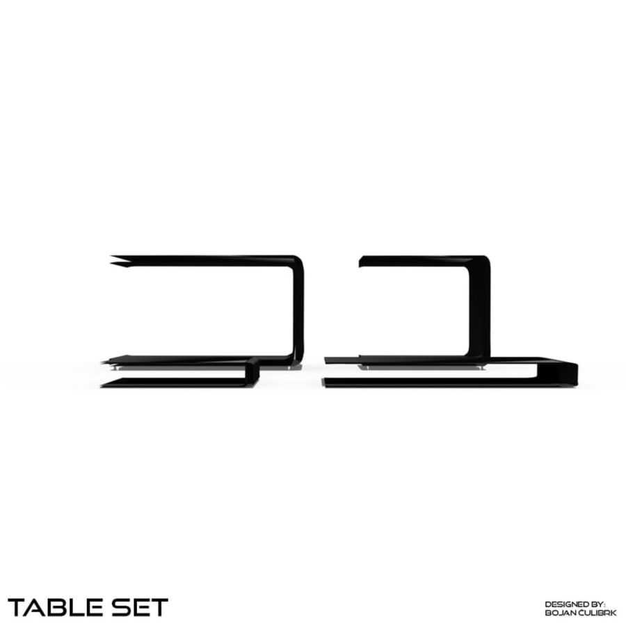 Cube Table Set Collection 2 royalty-free 3d model - Preview no. 7