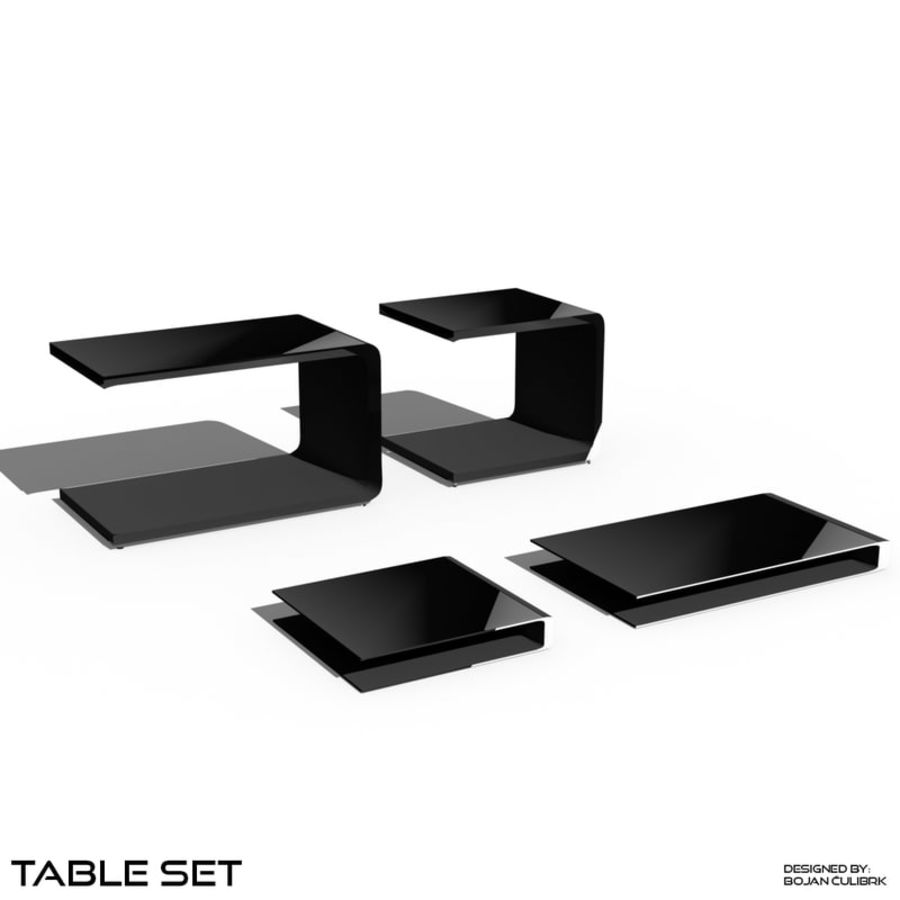 Cube Table Set Collection 2 royalty-free 3d model - Preview no. 5