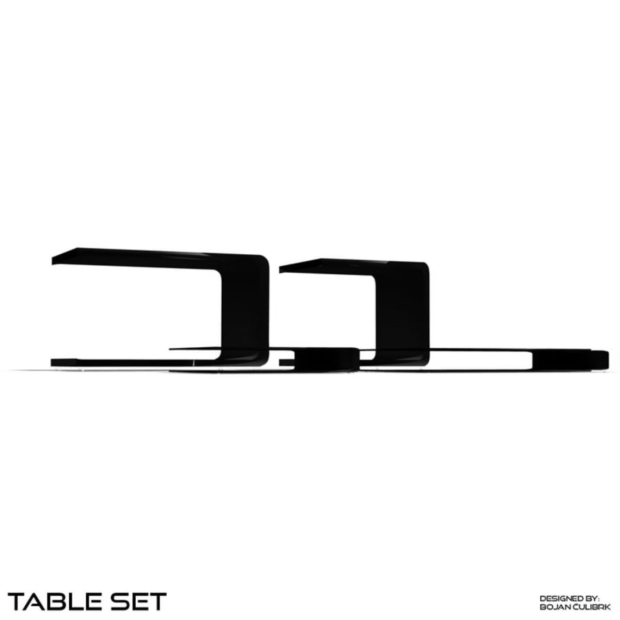 Cube Table Set Collection 2 royalty-free 3d model - Preview no. 3