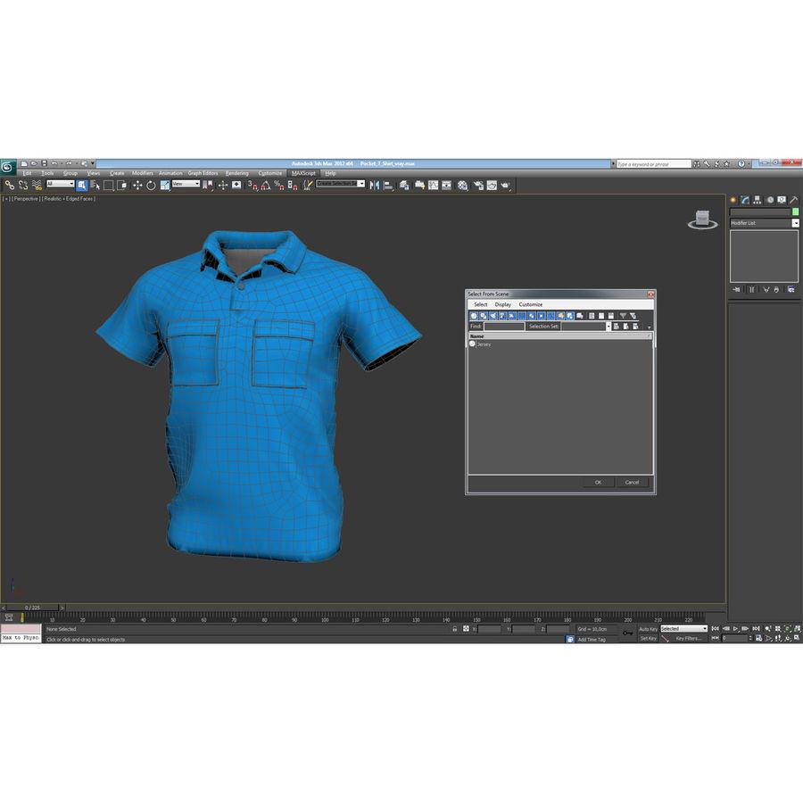 T-shirt kieszonkowy royalty-free 3d model - Preview no. 23