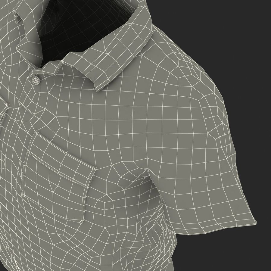 T-shirt kieszonkowy royalty-free 3d model - Preview no. 39