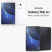 Samsung Galaxy Tab A 7.0 2016 black & white 3d model