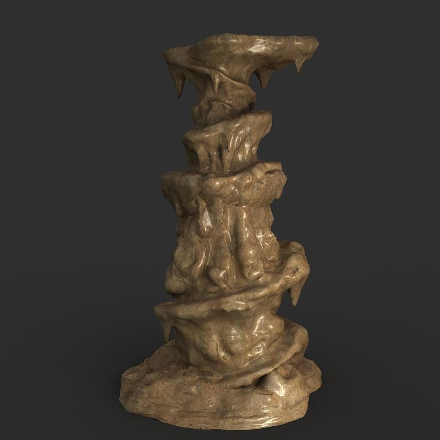 Cave Rock 01 royalty-free 3d model - Preview no. 1