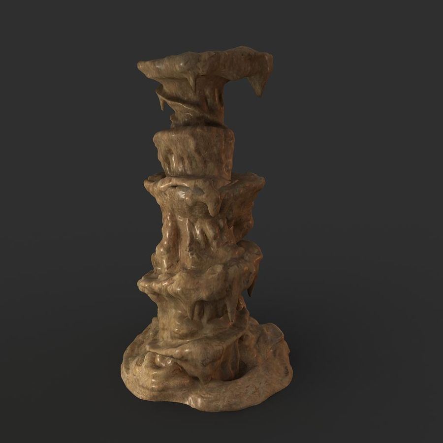 Cave Rock 01 royalty-free 3d model - Preview no. 3