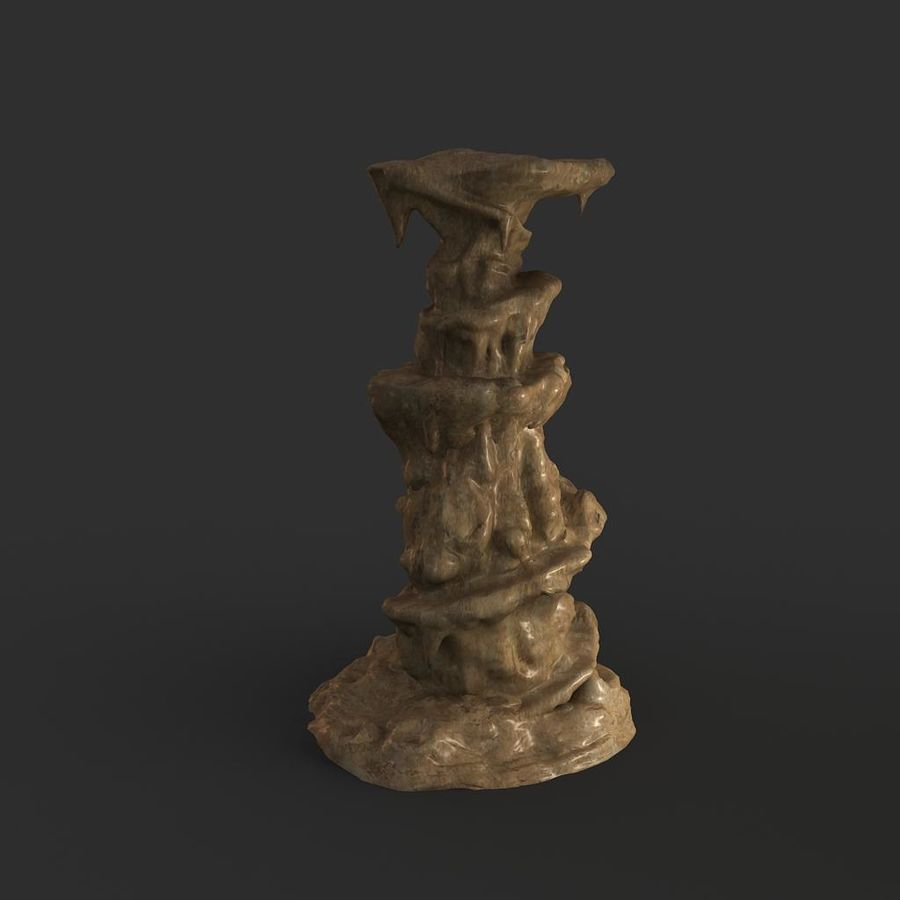 Cave Rock 01 royalty-free 3d model - Preview no. 6