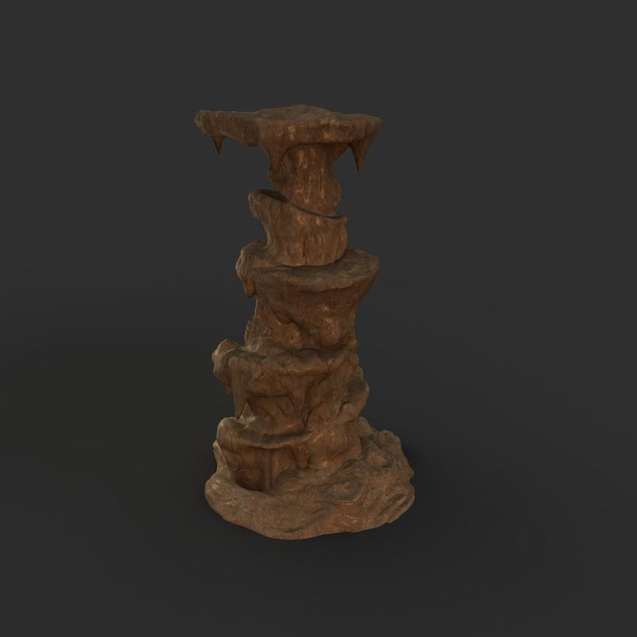 Cave Rock 01 royalty-free 3d model - Preview no. 4