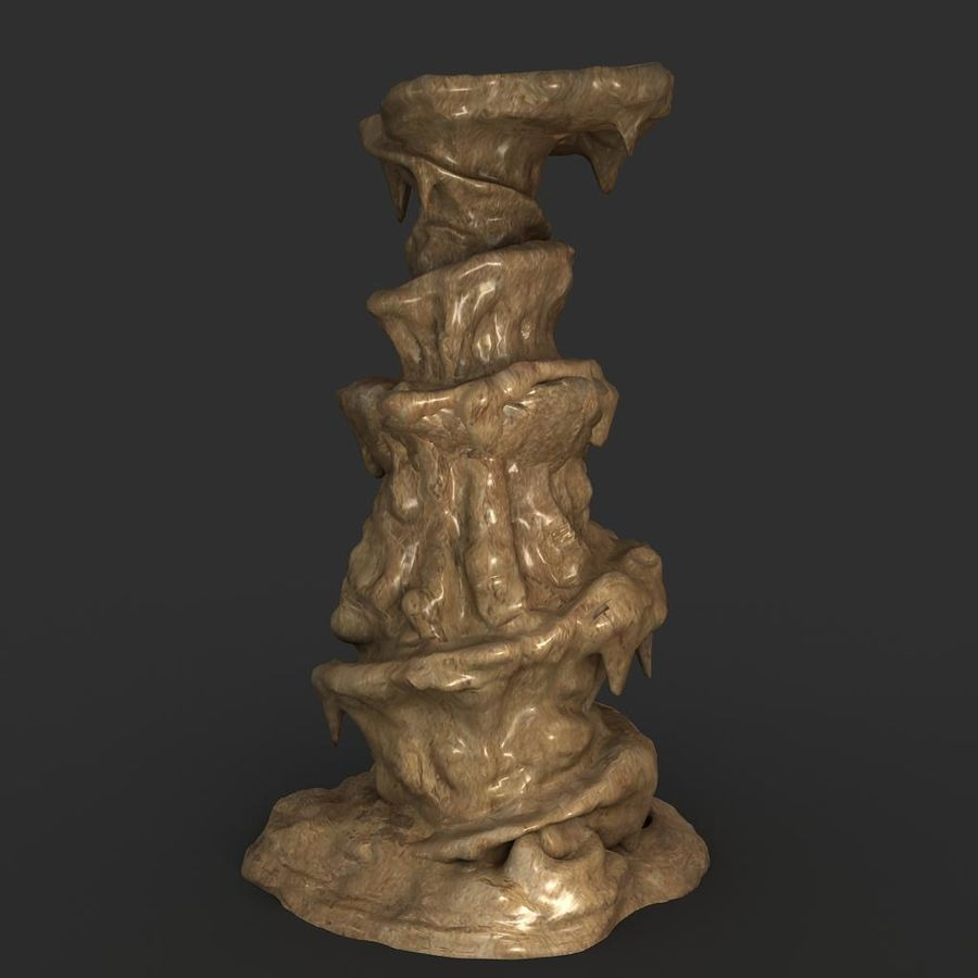 Cave Rock 01 royalty-free 3d model - Preview no. 2