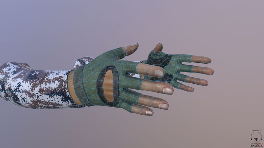 FPS arm hand royalty-free 3d model - Preview no. 3