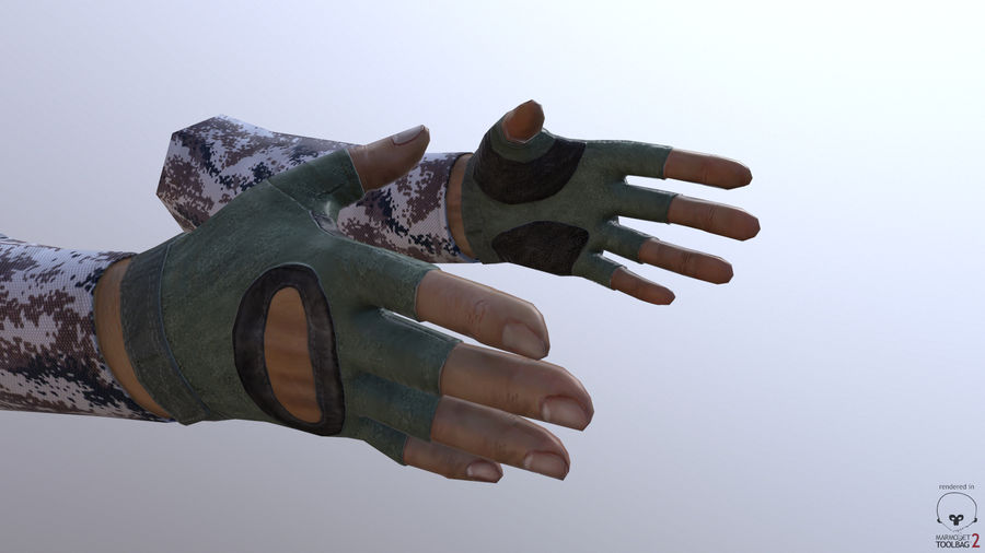 FPS arm hand royalty-free 3d model - Preview no. 8