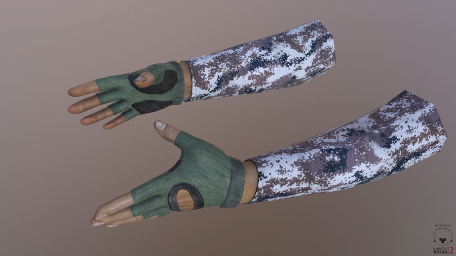 FPS arm hand royalty-free 3d model - Preview no. 7